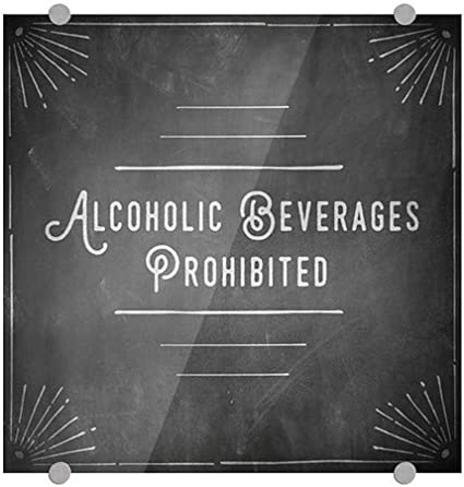 Nostalgia Burst Perforated Window Decal 24x24 Alcoholic Beverages Prohibited 5-Pack CGSignLab