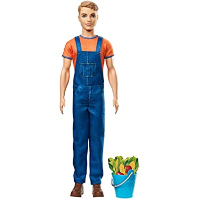 Barbie GCK73 Sweet Orchard Farm Ken Doll with Blue Pail & Accessories: Toys & Games