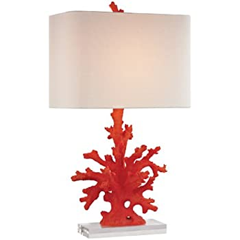 Dimond Lighting D2493 Coral Table Lamp, Red Coral