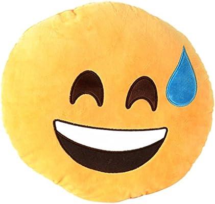 Amazon.com: Bigood 32 cm Con Forma De Emoticono Cojín ...