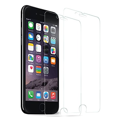 "iPhone 7 Screen Protector, SOWTECH 2-Pack Premium Tempered Glass Screen Protector Film for Apple iPhone 7 4.7"" - Clear"