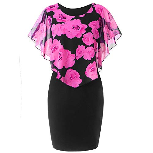 (0X Jean rv Bathing Suits Knee Length Goth Suede Bag Leaf Skirt Gym Hem Bed Skirts Trailer skirting kilted Belly Dance ski for Girl Hot Pink)