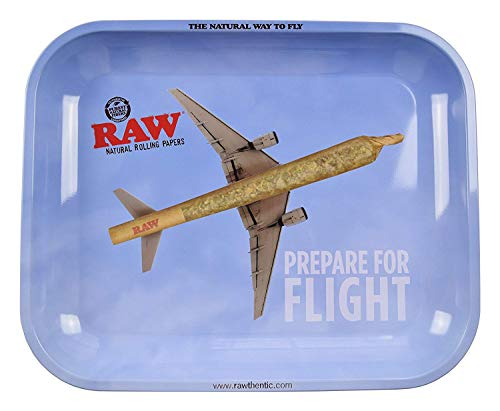 - RAW Prepare for Flight Metal Rolling Tray (Large 13.5
