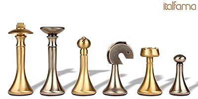 Modern Brass Chess Set