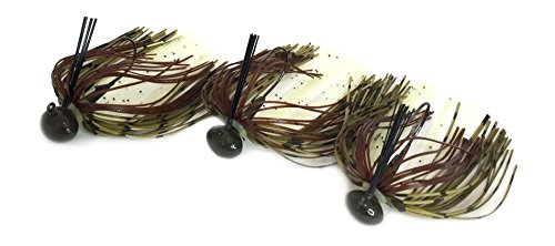 Tip Bender Lures Weedless Football Jig Kit with Baby Bass Pattern Skirt, 3 - Oz Baby Bass 3/8