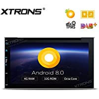 XTRONS 6.95 Inch Android 8.0 Octa Core 4G RAM 32G ROM HD Digital Multi-touch Screen Car Stereo DVD GPS Radio OBD2 Wifi DVR TPMS Double 2 Din