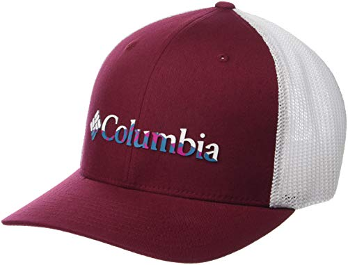 (Columbia Men's Mesh Ballcap, wine berry, color Weld, Large/X-Large)