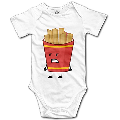Fry Costume Jacket (Unisex Baby French Fries Short Sleeve Romper Bodysuit Jumpsuit Baby Clothes Outfits 18 Months)
