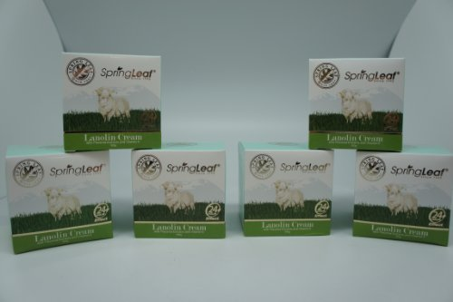 Spring Leaf Lanolin with Palcenta and Vitamin E Cream (Pack of 6) by Spring Leaf