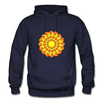 Best Sarahdiaz Navy Custom-made Tattoo Sunflower Blade Fire Hoody X-large Women