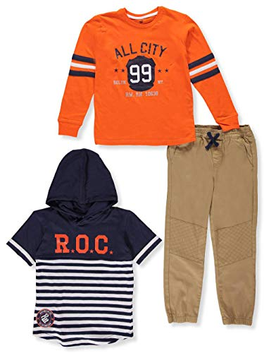 Rocawear Big Boys' 3-Piece Pants Set Outfit - Navy/Orange, 8 ()