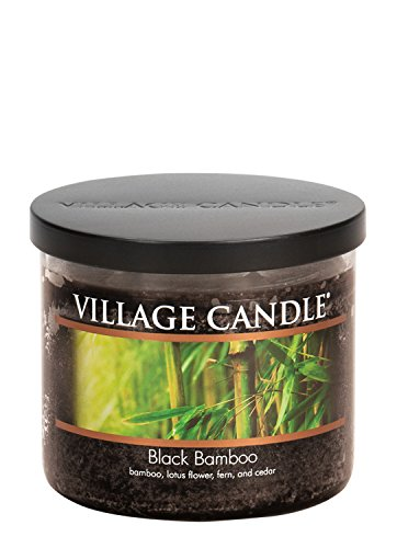 (Village Candle Black Bamboo 17 oz Glass Bowl Scented Candle, Medium)