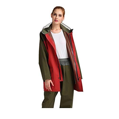 Per Uomo Xl Antipioggia Dimensione Impermeabile Cappello Jacket Zhangcaiyun Con Giacca Blu colore Rain Pantaloni Esterno Rosso Split xIFTFq