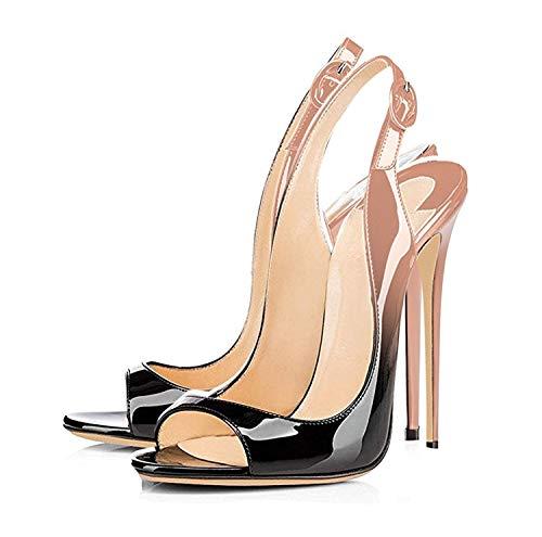 Noir Bout Sandales Décolletés De Chaussures Femmes Edefs Ouverts Talon Blacknude Fashion À 120mm Haut Artisan CqXOttxwH