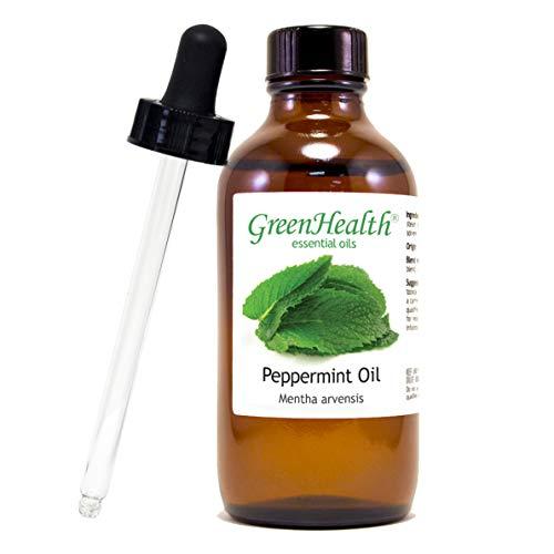 Peppermint Essential Oil (100% Pure), Premium Quality, Undiluted 4 fl oz w/Cap - Plus Glass Dropper + Digital Guide Book