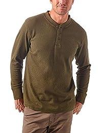 Wrangler Mens Authentics Men's Long Sleeve Waffle Henley Henley Shirt