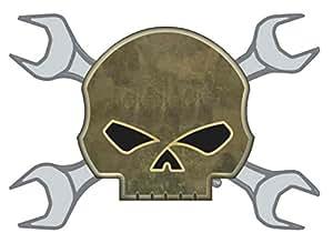 Harley-Davidson Wrench Willie G Skull Crossbones Pin
