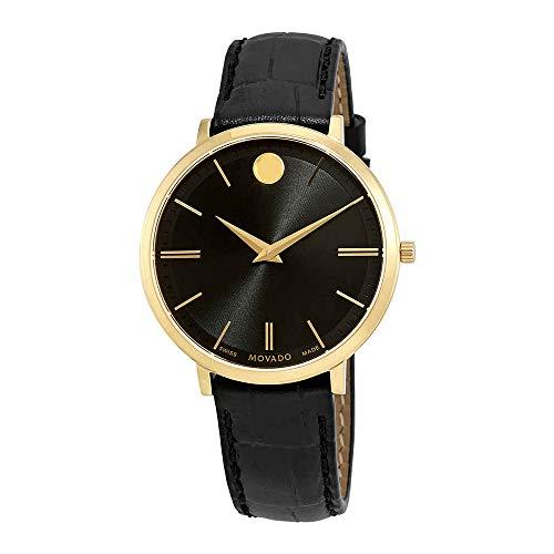 Movado Ultra Slim Black Dial Ladies Watch 0607182