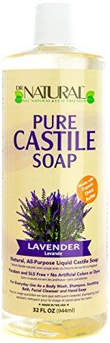 Dr. Natural Pure-castile Liquid Soap, Lavender, 32 (Lavender Pure Castile Bar Soap)