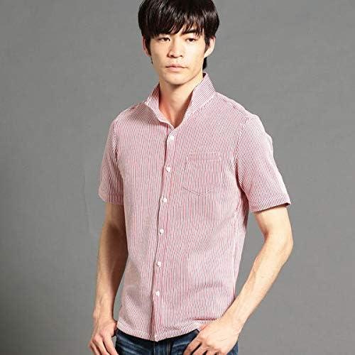 ハイダウェイ(HIDEAWAYS) ストライプ柄半袖カットソーシャツ
