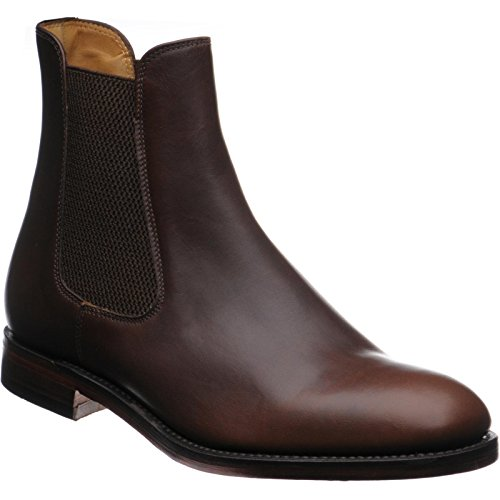 Herring Coltham Rubber-Soled Chelsea Boots in Brown Waxy Calf (Waxy Calf Footwear)