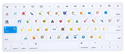 HRH Funny Emoji Keyboard Cover Silicone Skin for MacBook Air 13 and MacBook Pro 13