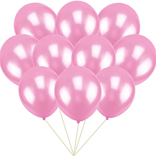 GuassLee 100 ct Pink Balloon 10 Latex Helium Balloons for Wedding Birthday Party Festival Christmas Decorations