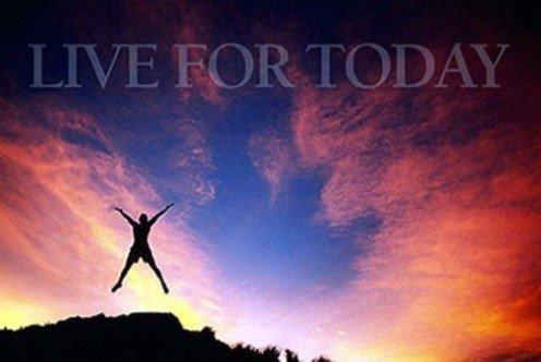 (Buyartforless Live for Today 36x24 Art Print Poster Wall Decor Motivational Inspirational Mountain Climber)