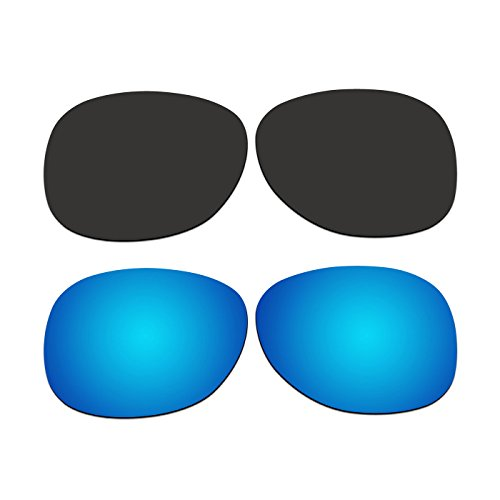 2 Pair COODY Replacement Polarized Lenses for Ray-Ban RB2132 55mm Sunglasses Pack - Polarized Rb2132 Replacement Lenses