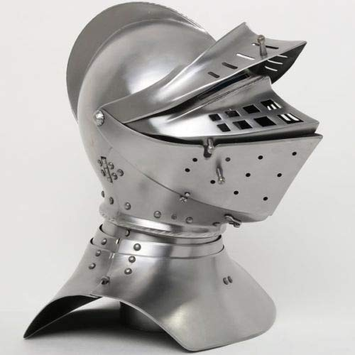 LM Handicrafts, 18GA SCA LARP Medieval European Knight Tournament Close Armor Helmet Replica