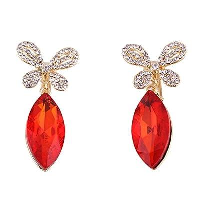 Top Grace Jun 2019 New Rhinestone Crystal Clip on Earrings Non Piercing for Women Ear Clip Not Allergy for cheap