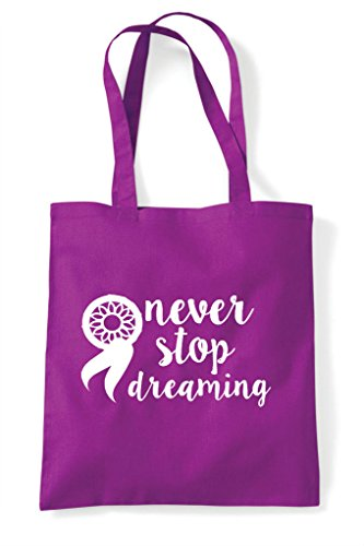 Tote Dreamcatcher Never Shopper Bag Magenta Stop Statement Dreaming xHZvO