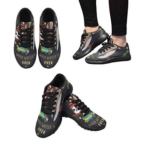 Sneakers Sloth Women's 8 Baby Tree Sleeping on Trainer Cross Trail InterestPrint Design Running The dXnw00q1