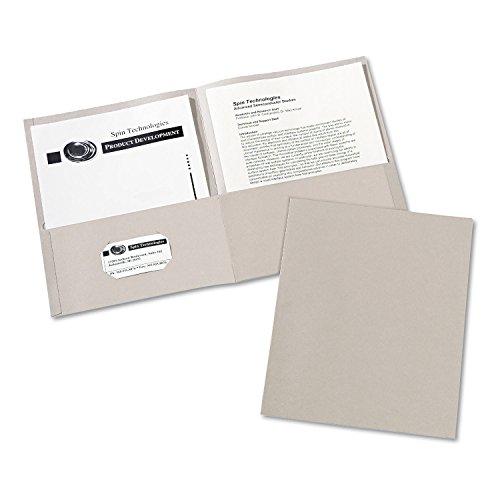 (AVE47990 - Avery Two-Pocket Embossed Paper Portfolio)