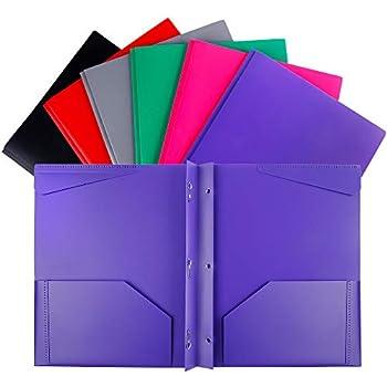 Amazon.com : Lightahead Two Pocket Poly File Portfolio ...