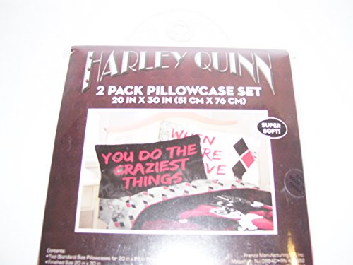 DC Comics Harley Quinn Crazy Love Pillowcase set 2pk]()