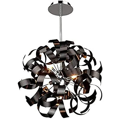 Artcraft Lighting Bel Air Pendant, Brushed Copper/Chrome