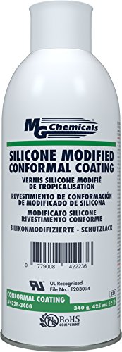 MG Chemicals 422B-340G Silicone Conformal Coating,  Clear ,12 oz Aerosol (Silicone Coating)
