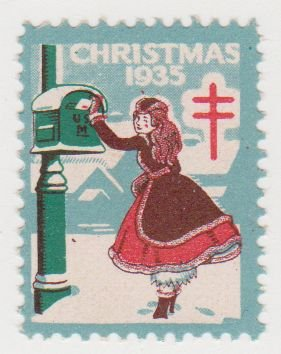 1935 christmas seals single stamp - Christmas Stamp