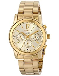Invicta Women's 12551 Angel Analog Display Swiss Quartz Gold Watch