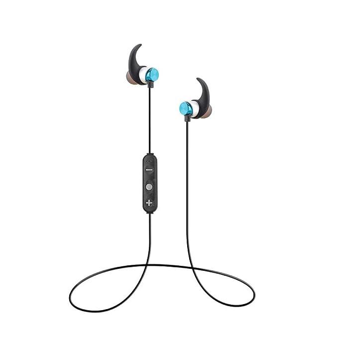 Anwasd7 Auriculares Bluetooth 5.0 Tarjeta TF Universal enchufable ...
