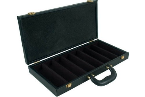 Faux Alligator Leatherette Carrying Case For 400 Poker Chips, Green