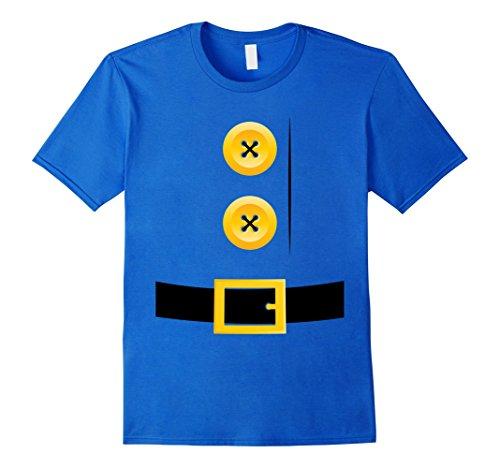Costume Diy Gnome (Mens Dwarf, Gnome, Elf, Halloween Group Matching Costume Shirt Medium Royal)