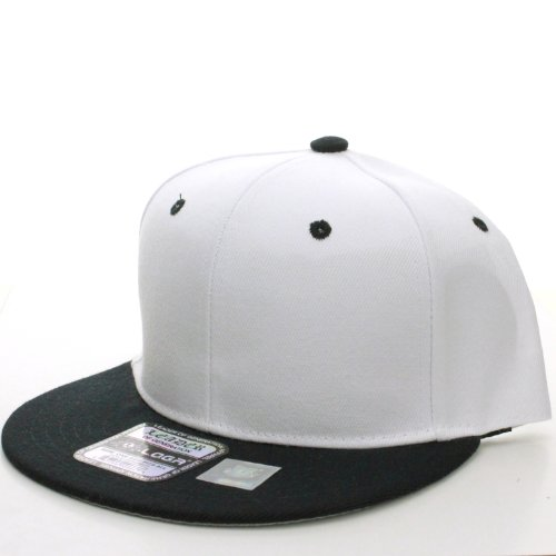 L.O.G.A Plain Flat Bill Visor Blank Snapback Hat Cap with Adjustable Snaps - - Visors Large Billed