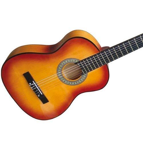 Guitarra española acústica | 4/4, de color marrón, con 6 cuerdas | Guitarra clásica, Guitarras, Guitarra flamenca: Amazon.es: Instrumentos musicales