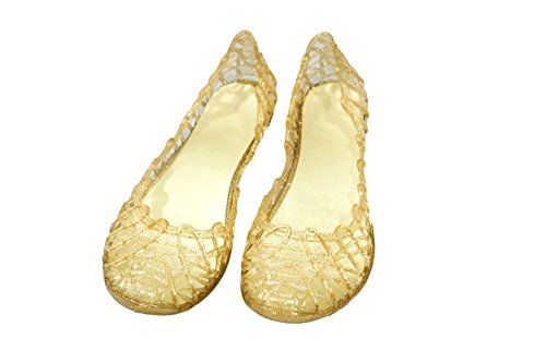 Made In Italy Woman Jelly Sandals (40, Glitter Gold)