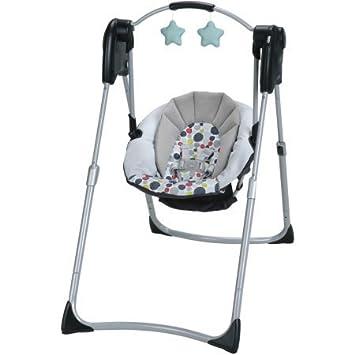 Amazon.com: Graco Slim espacios Compact Baby Swing, Etcher: Baby