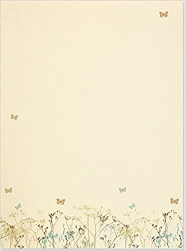 butterflies stationery letter perfect stationery series peter pauper 9781593592547 amazoncom books