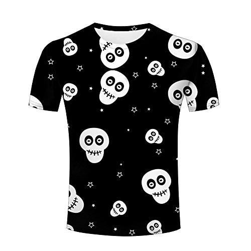 Men's 3d Creative Print T Shirt Cool Skull/Skeleton/Red Blood Seal/Evil Charm Of Women Graphics Short Sleeve Tees (Blood Elf Shirt)