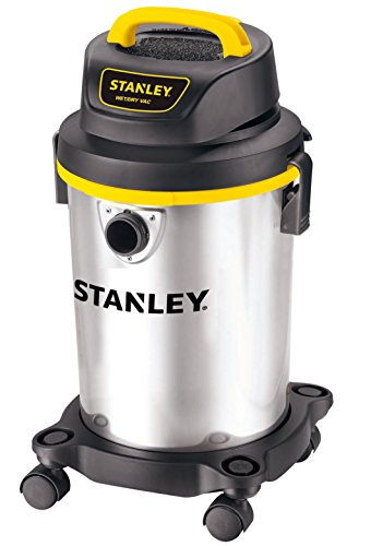 Stanley Wet/Dry Vacuum, 4 Gallon, 4 Horsepower, Stainless Steel Tank (Floor Workshop Nozzle)